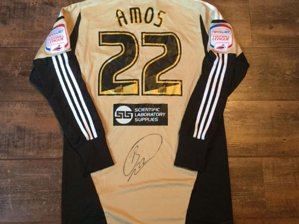 2012 2013 Hull City Amos Match Worn Goalkeepers Football Shirt